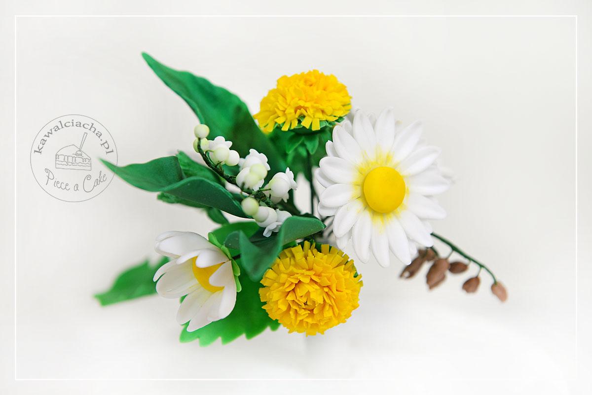 Obrazek: Bukiet polnych, cukrowych kwiatów