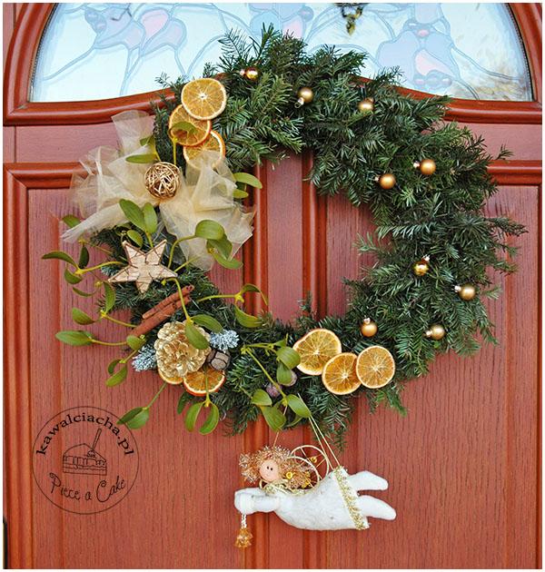 Boże Narodzenie ozdoby - wieniec świąteczny