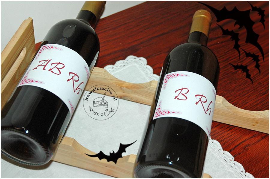 halloweenowe krwawe wino