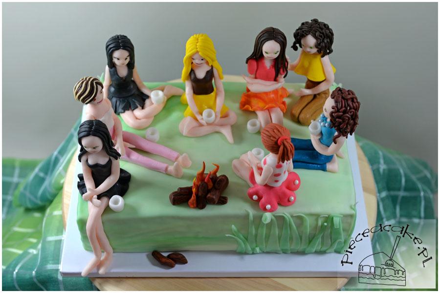 Tort Piknik - figurki z lukru plastycznego