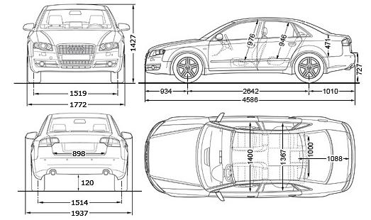Tort według schematu Audi A4