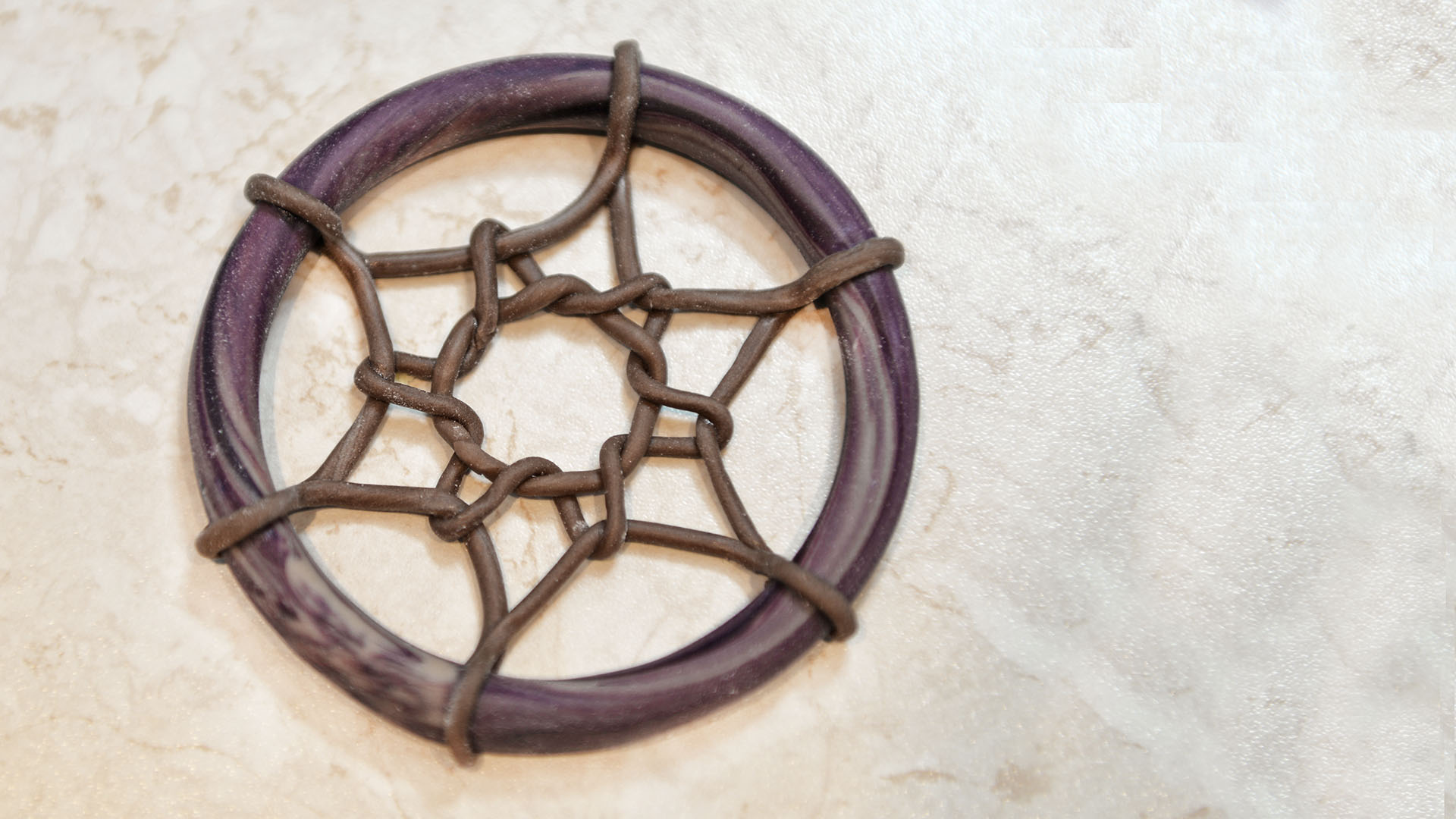 koło z siatką