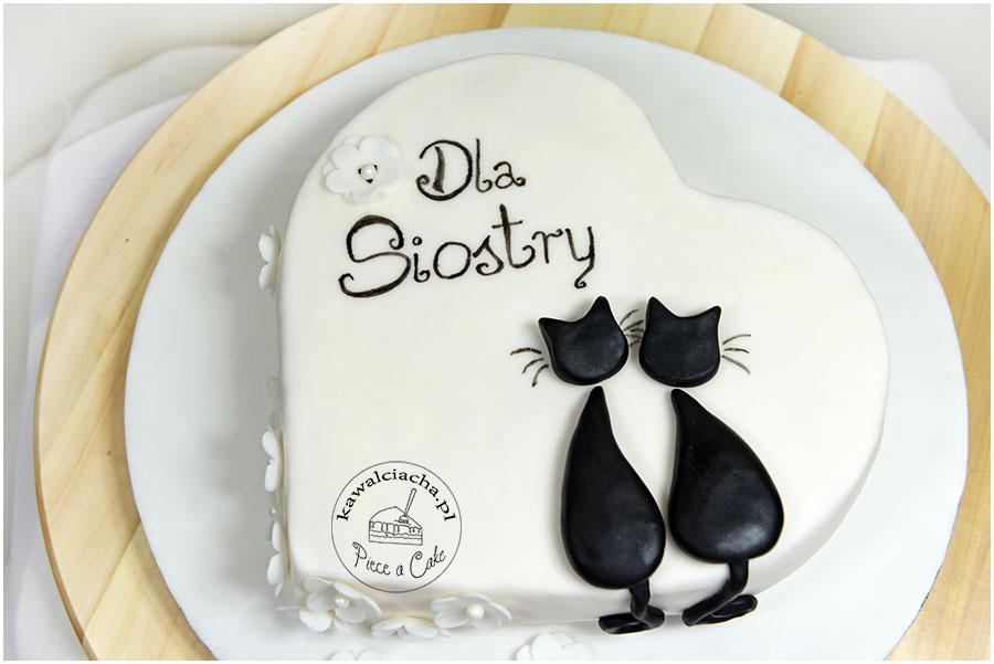 Tort z kotami