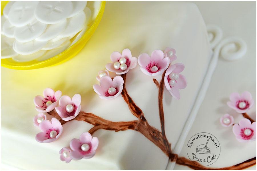 cukrowe kwiaty wiśni
