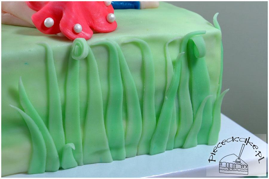 Tort Piknik - trawa z lukru plastycznego
