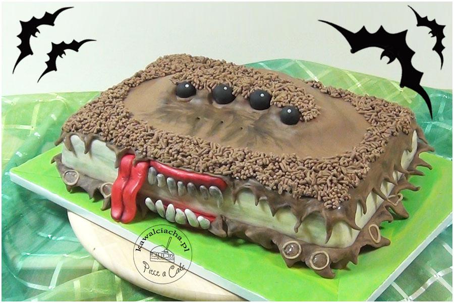 tort na Halloween potworna księga potworów