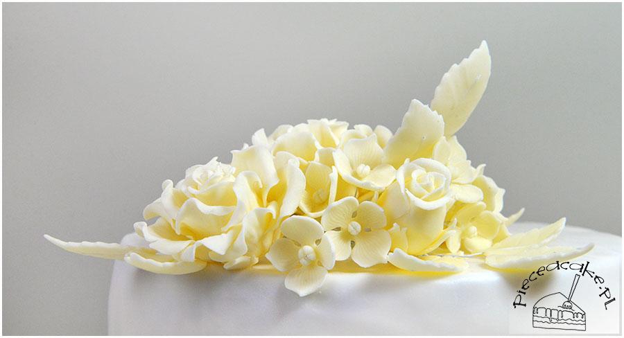 kompozycja kwiatów cukrowych
