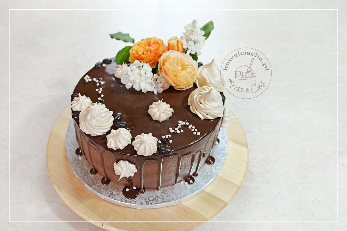 Drip cake czekolada i solony karmel