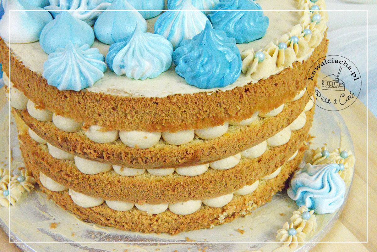 Obrazek: naked cake - odkryte warstwy kremu