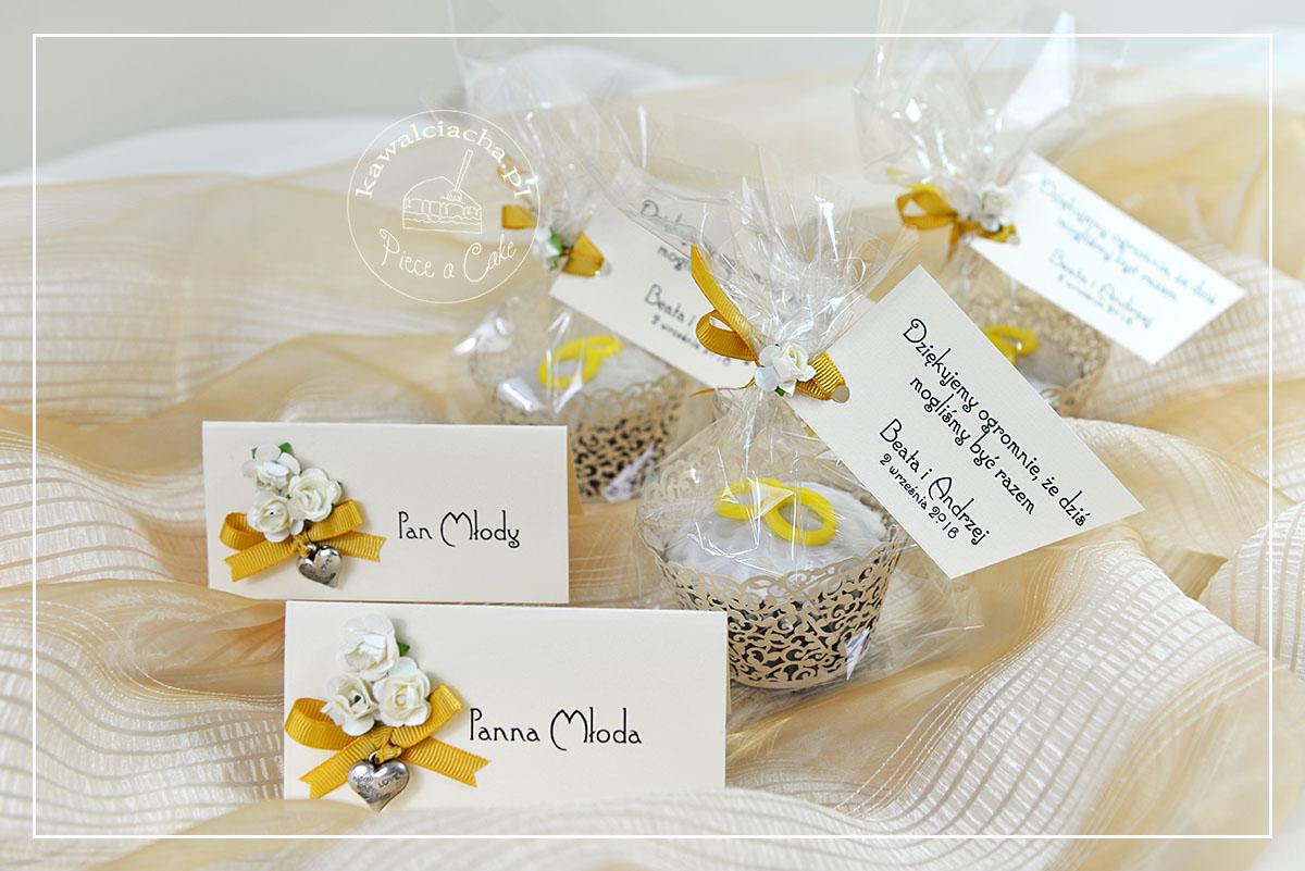 Ślub w kolorach ecru i starego złota