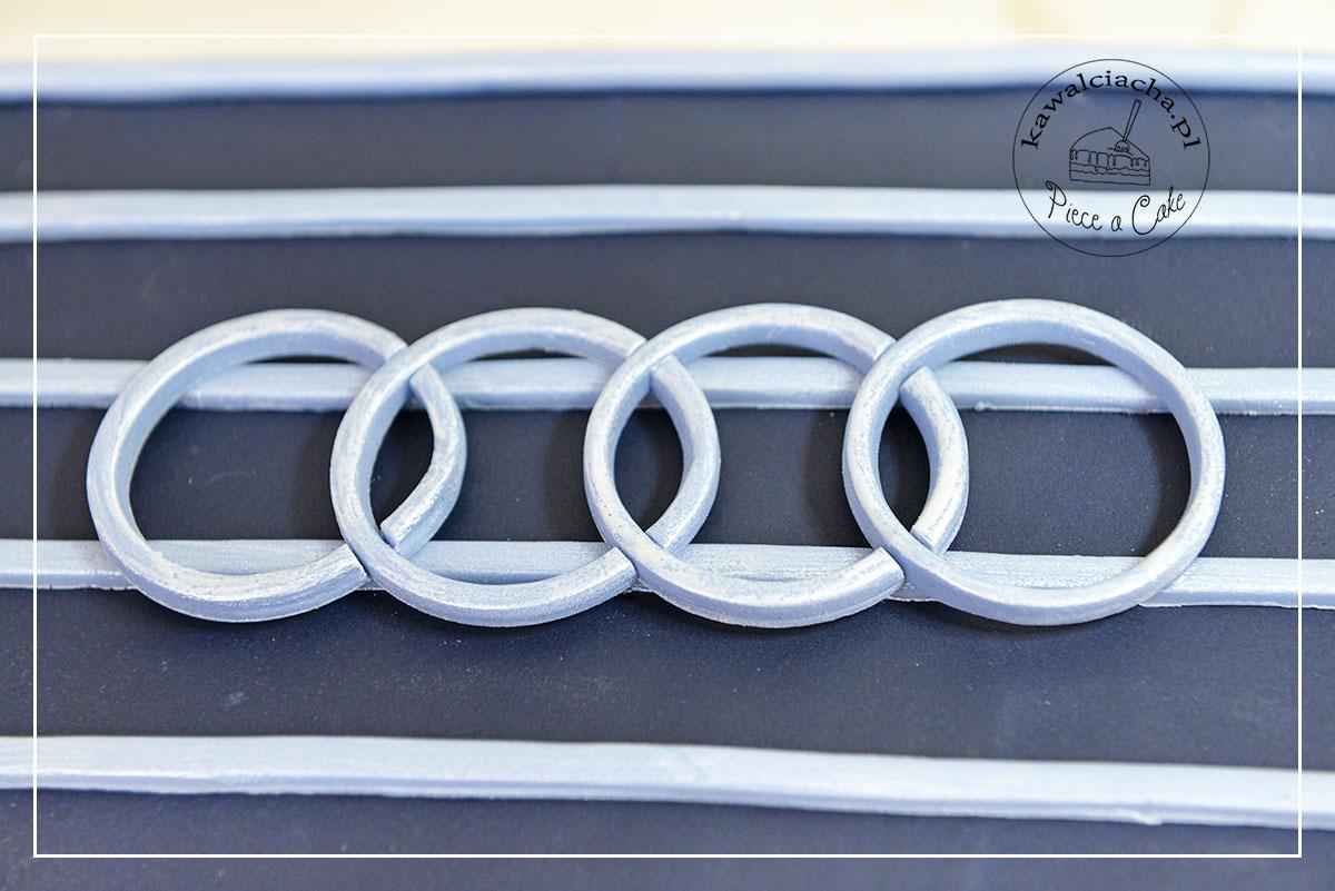 Tort urodzinowy dla chłopaka pierścienie Audi