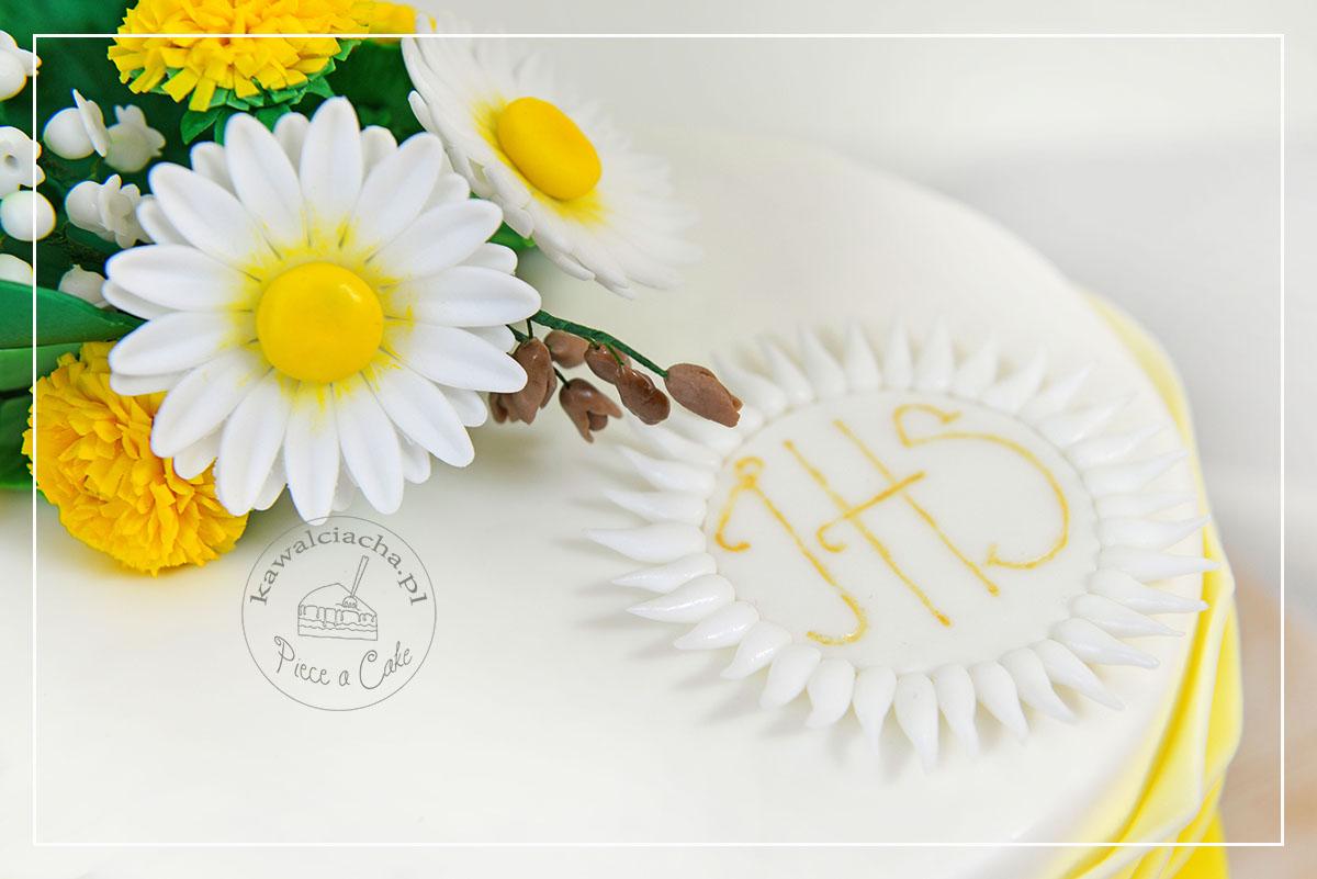 Obrazek: Tort komunijny - cukrowa hostia