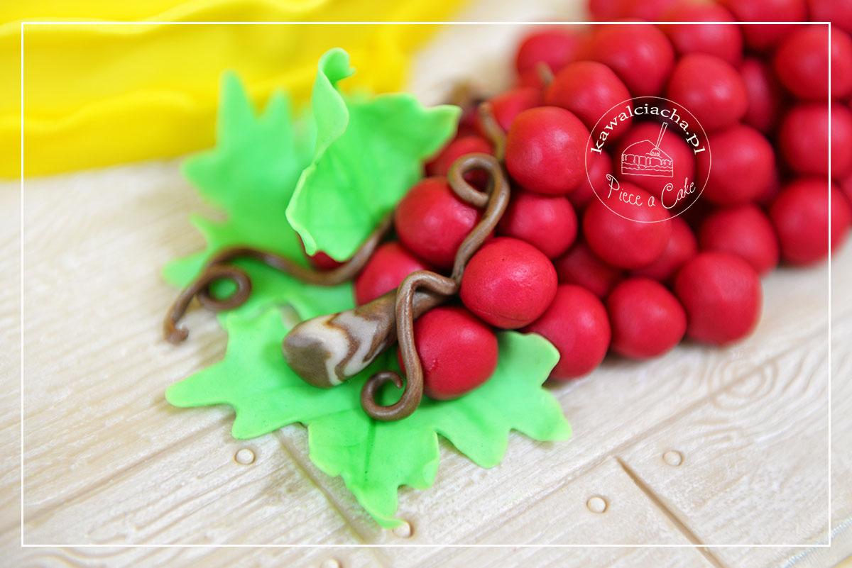 Obrazek: Tort komunijny - kiść winogron