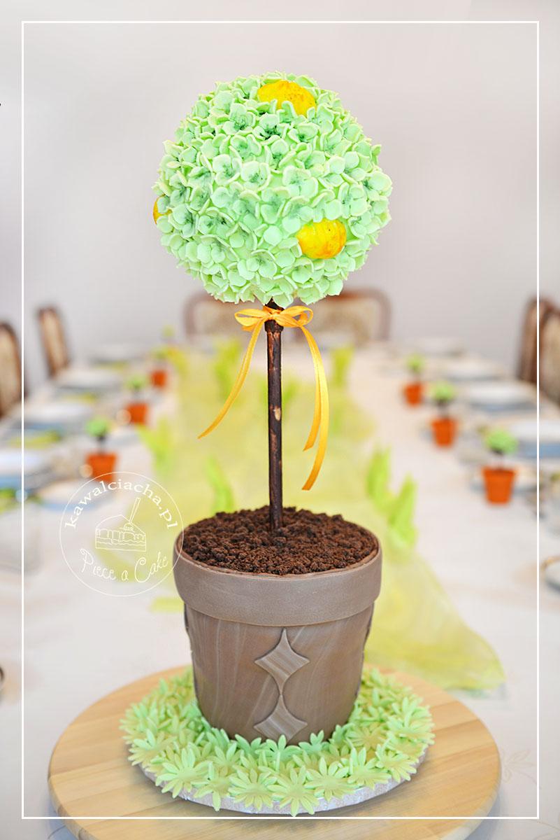 Tort wielkanocny drzewko