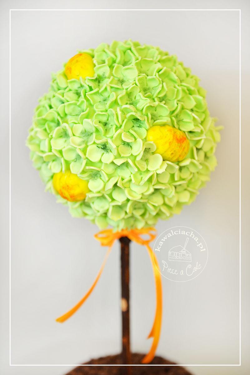 Tort na Wielkanoc - wielkanocne drzewko