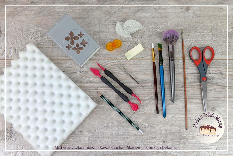 Obrazek: Narzędzia do formowania dekoracji z papieru jadalnego
