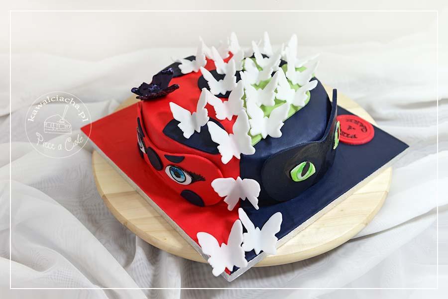 Obrazek: Tort z bajki Biedronka i Czarny kot