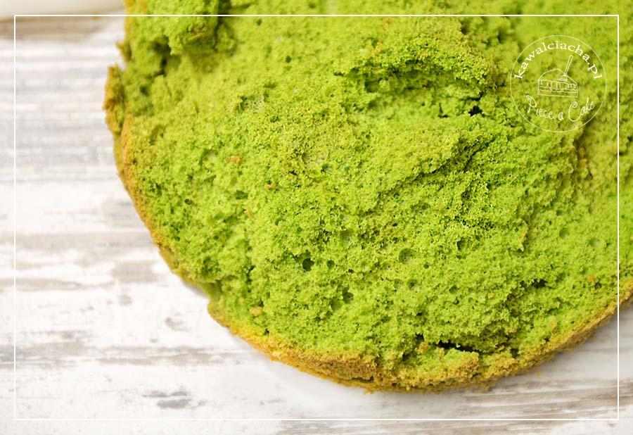 Obrazek: Zielony biszkopt do tortu ze szpinakiem