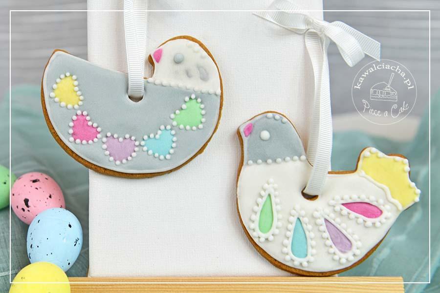 Lukrowane kurki - wielkanocne ciasteczka