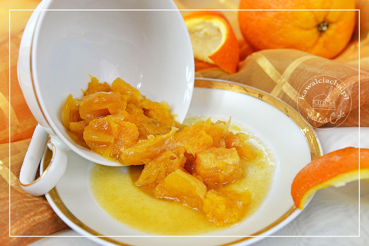 Smażone cząstki pomarańczy