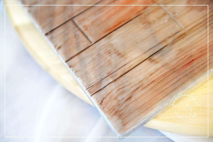 Obrazek: Podkładka pod tort z teksturą drewna