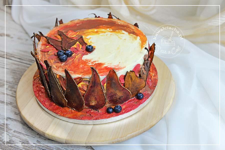 Tort jesienny z karmelizowanymi gruszkami