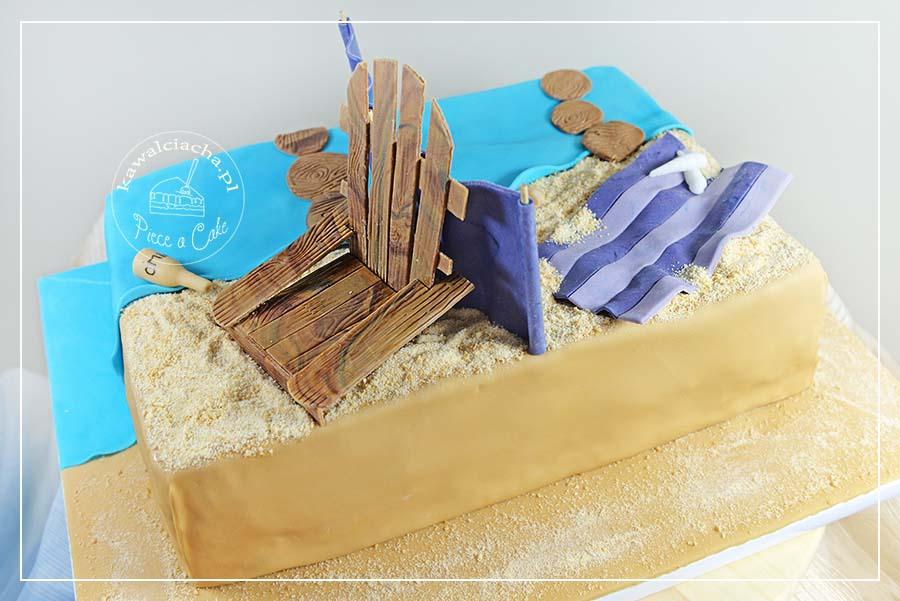 Obrazek: Tort plaża
