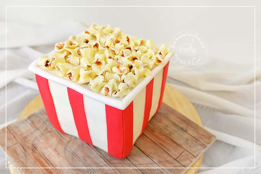 Obrazek: Tort urodzinowy - kubełek popcornu