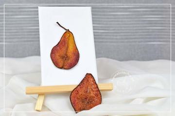 Karmelizowane plastry gruszek