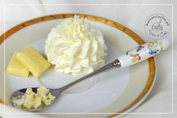 Krem mascarpone z białą czekoladą